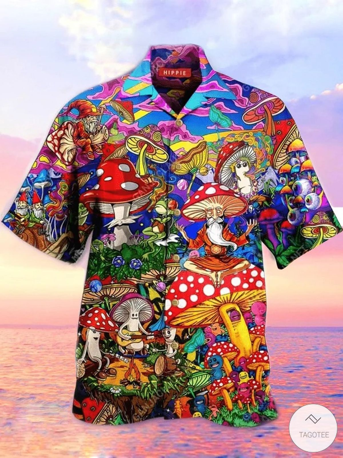 Mushroom Hippie Peace Hawaiian Shirt