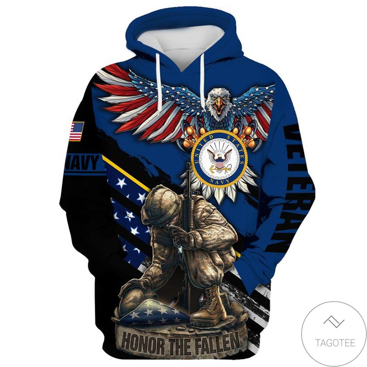Navy Veteran Horror The Fallen Hoodie