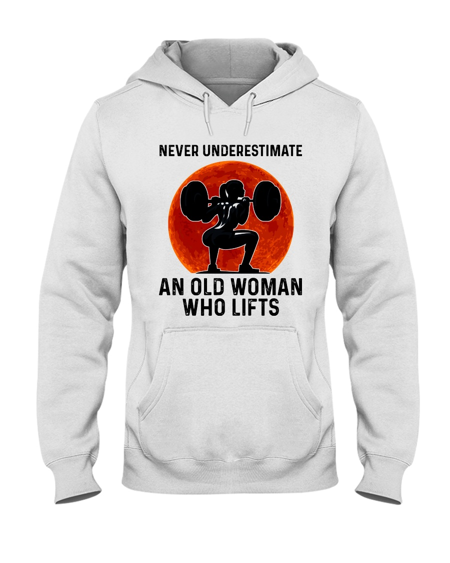 Never underestimate an old woman who lifts hoodie