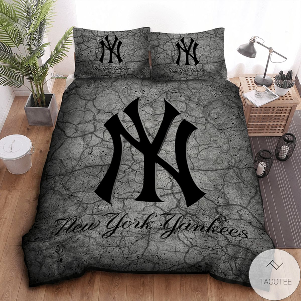 New York Yankees Grey Bedding Set