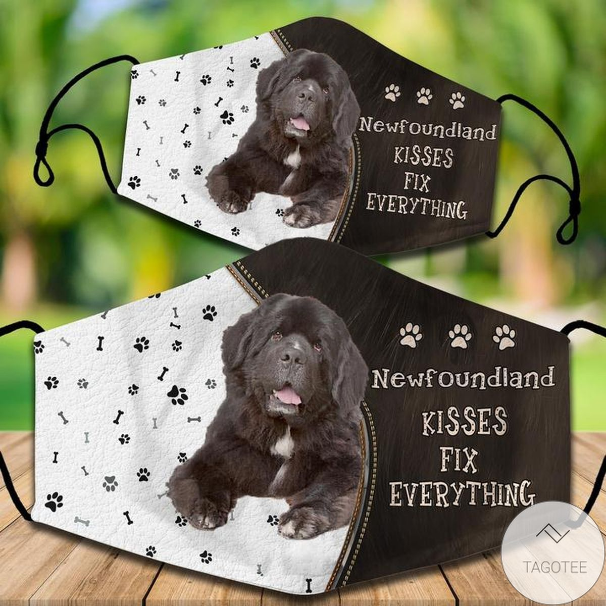 Great Quality Newfoundland Kisses Fix Everything Face Mask