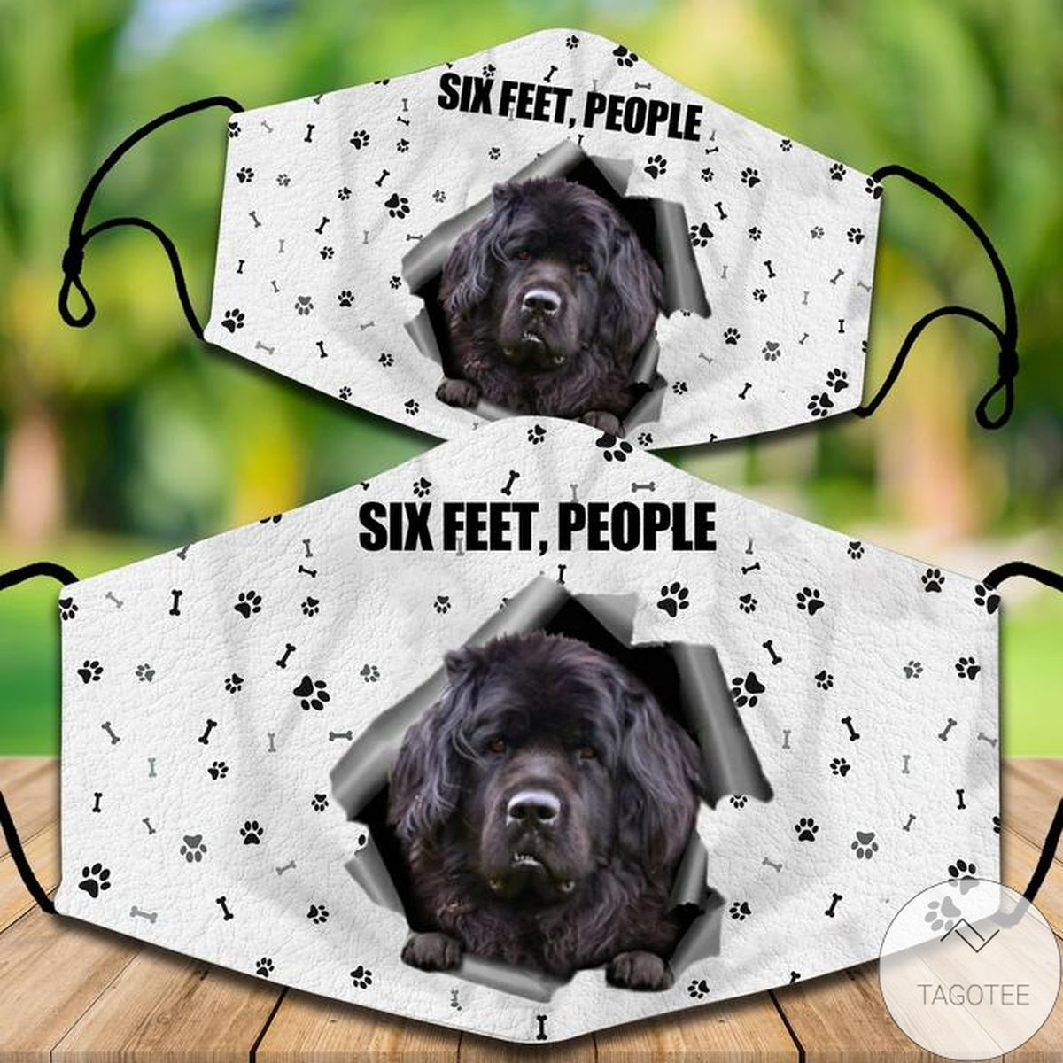 Father's Day Gift Newfoundland Six Feet People Face Mask