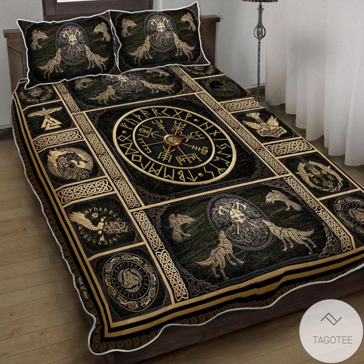 Norse Mythology Viking Quilt Bedding Set