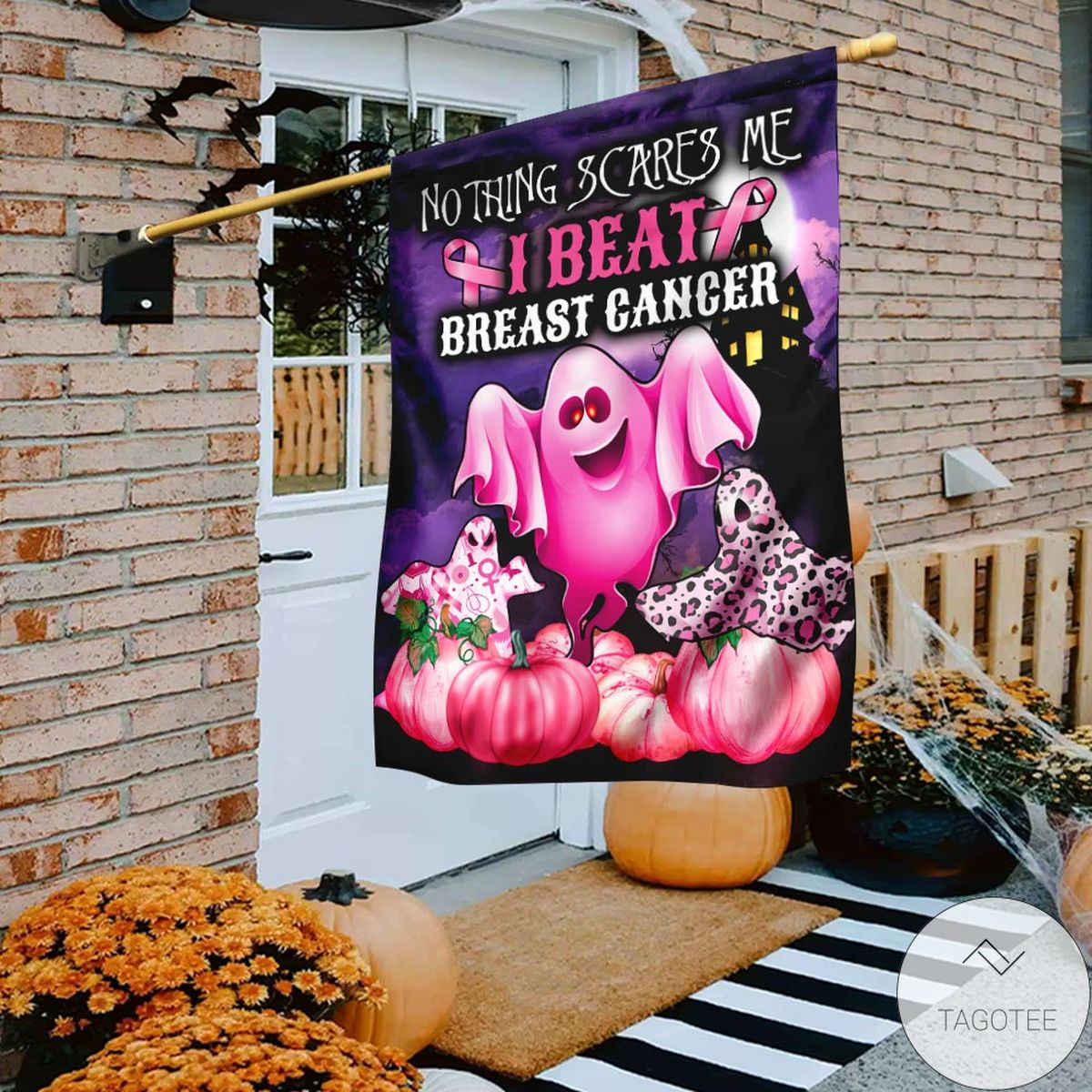 Absolutely Love Nothing Scare Me I Beat Breast Cancer Flag