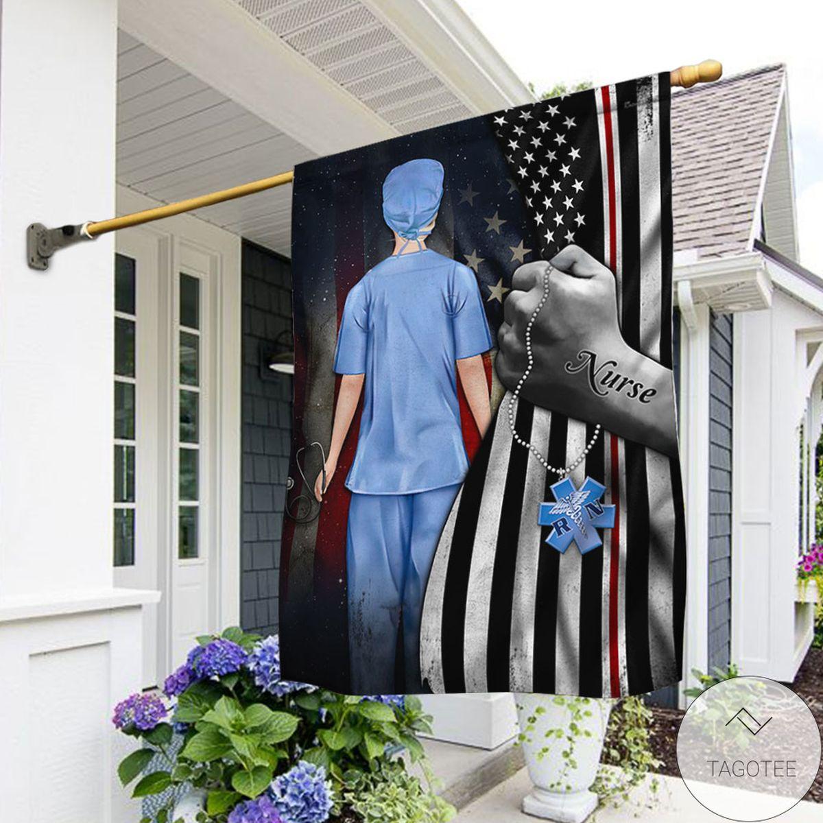 Best Nurse American Flag