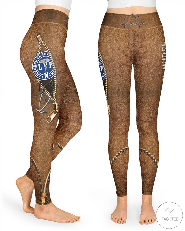 Nurse LPN High Waist Leggings