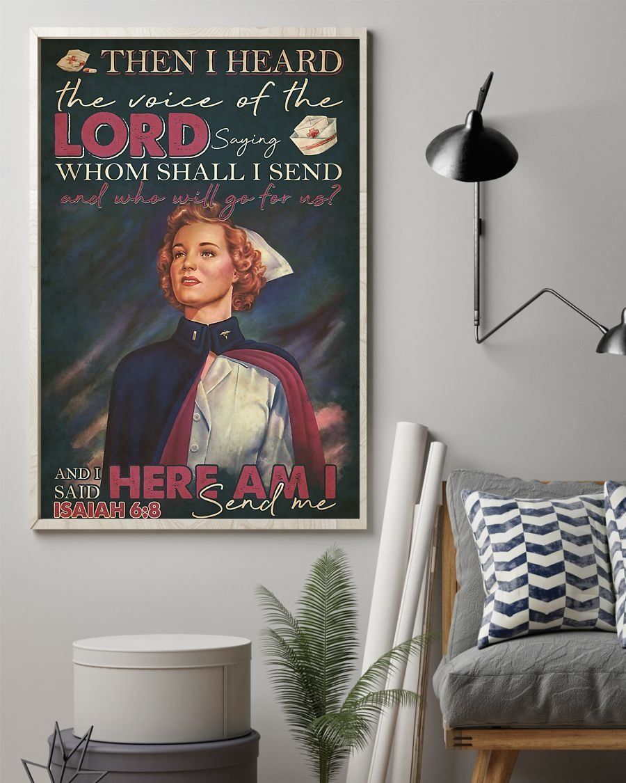 Nurse Then I heard the voice of the Lord saying Whom shall I send And who will go for us vintage poster 2