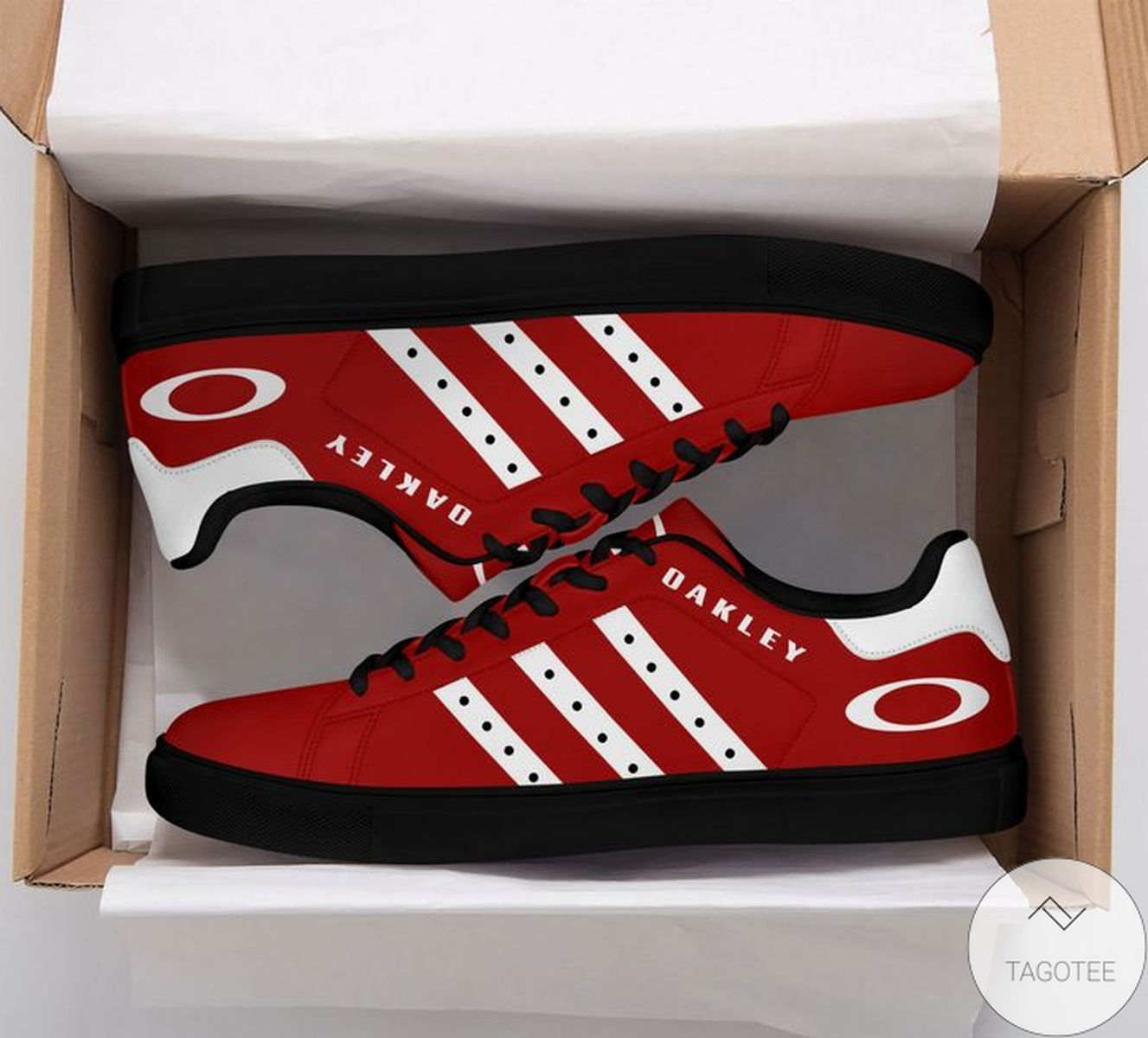 Oakley Red Stan Smith Shoes