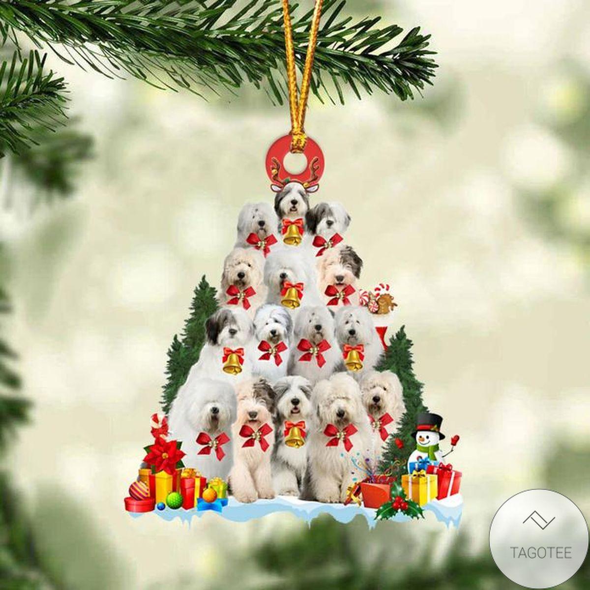 Old English Sheepdog Dog Christmas Tree Ornament
