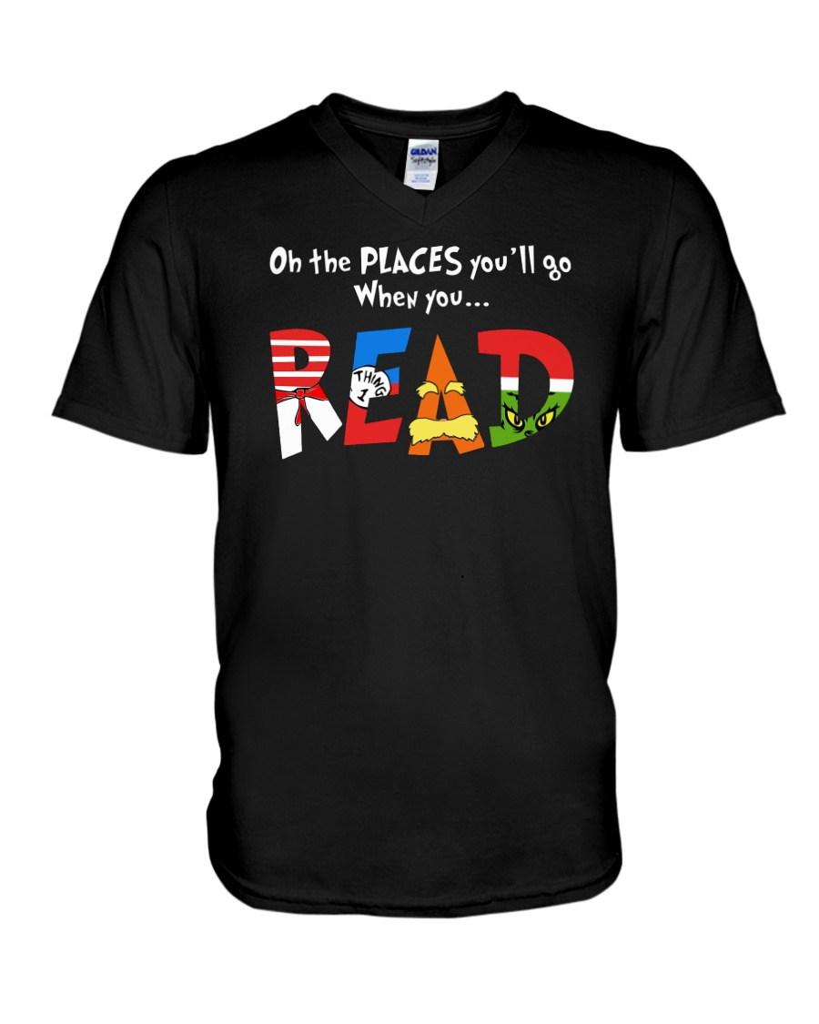 On the places you'll go when you read v-neck