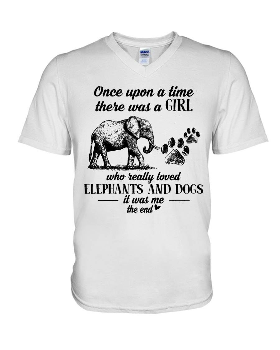 Once upon a time there was a girl who really loves elephants and tattoos V-neck