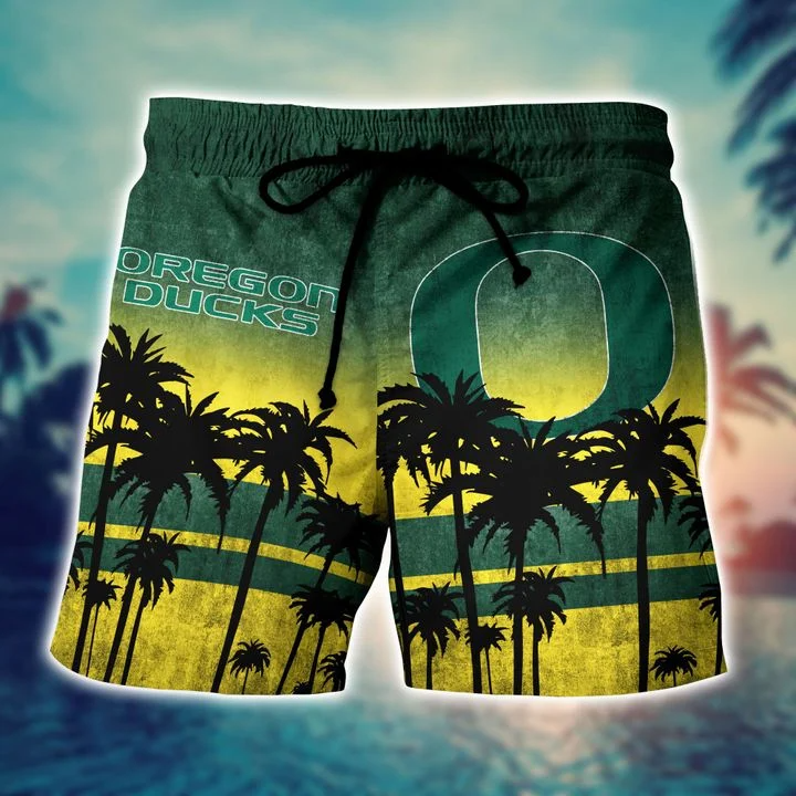 Sale Off Oregon Ducks Tropical Hawaiian Shirt, Beach Short