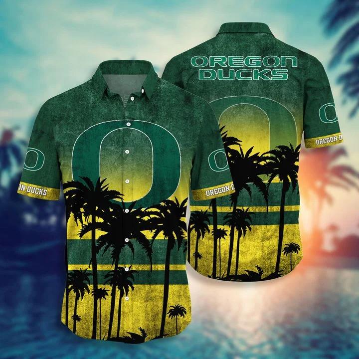 Funny Tee Oregon Ducks Tropical Hawaiian Shirt, Beach Short