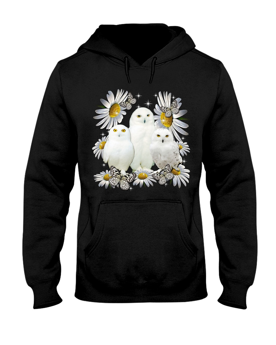 Owls and daisy flowers hoodie