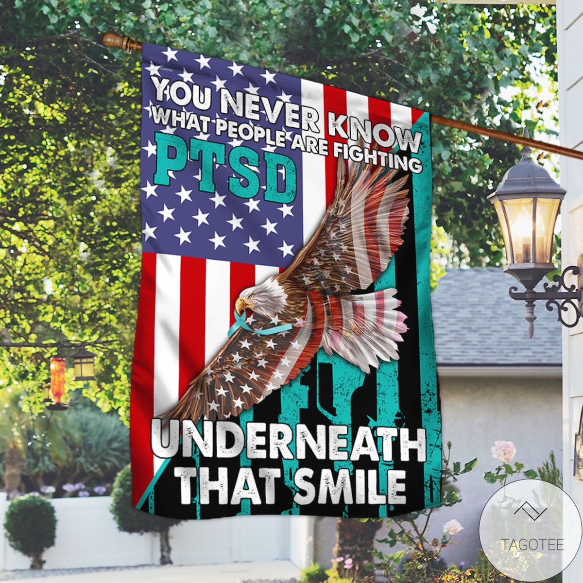 PTSD Awareness You Never Know What People Are Fighting Flag