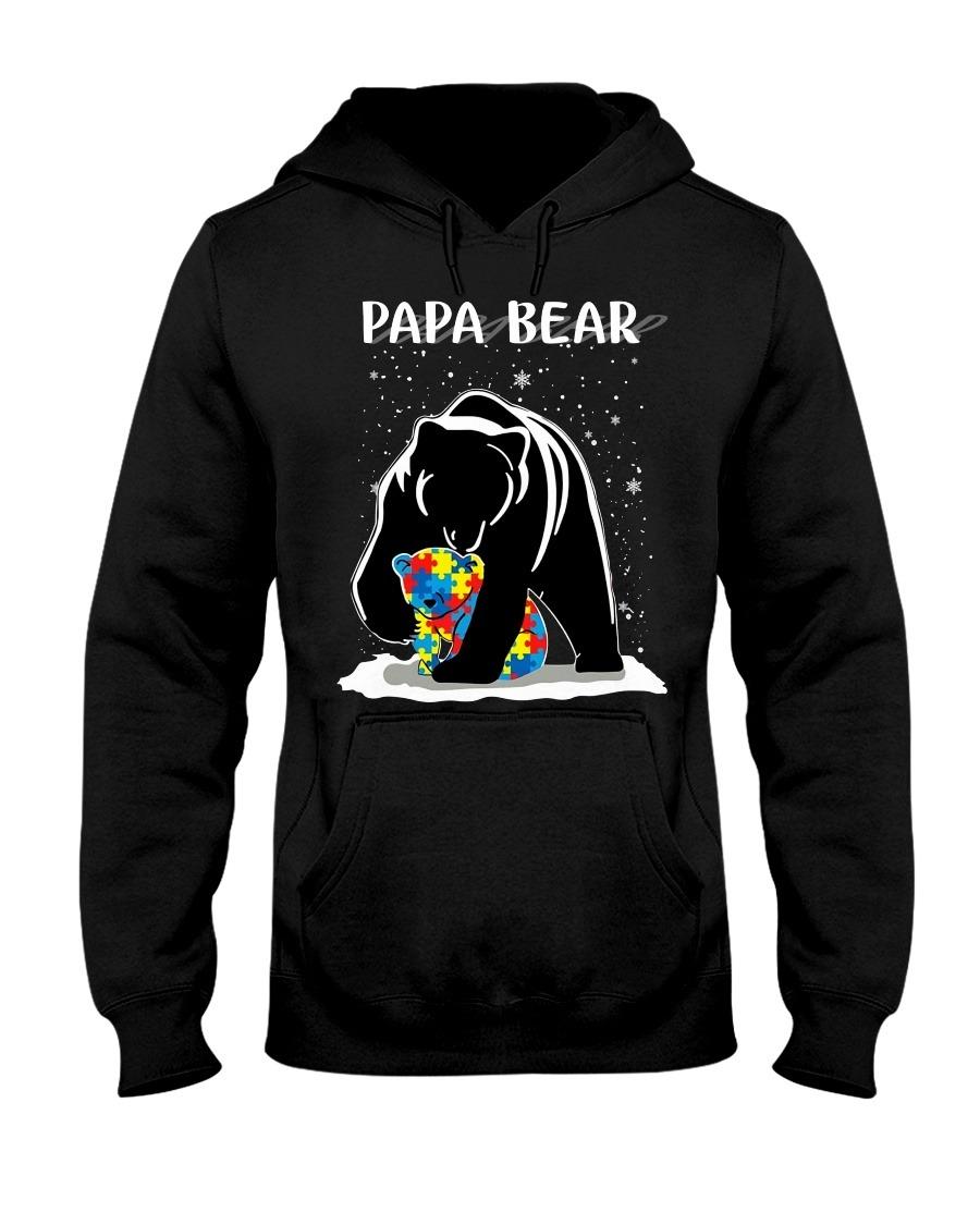 Papa Bear Autism snow hoodie