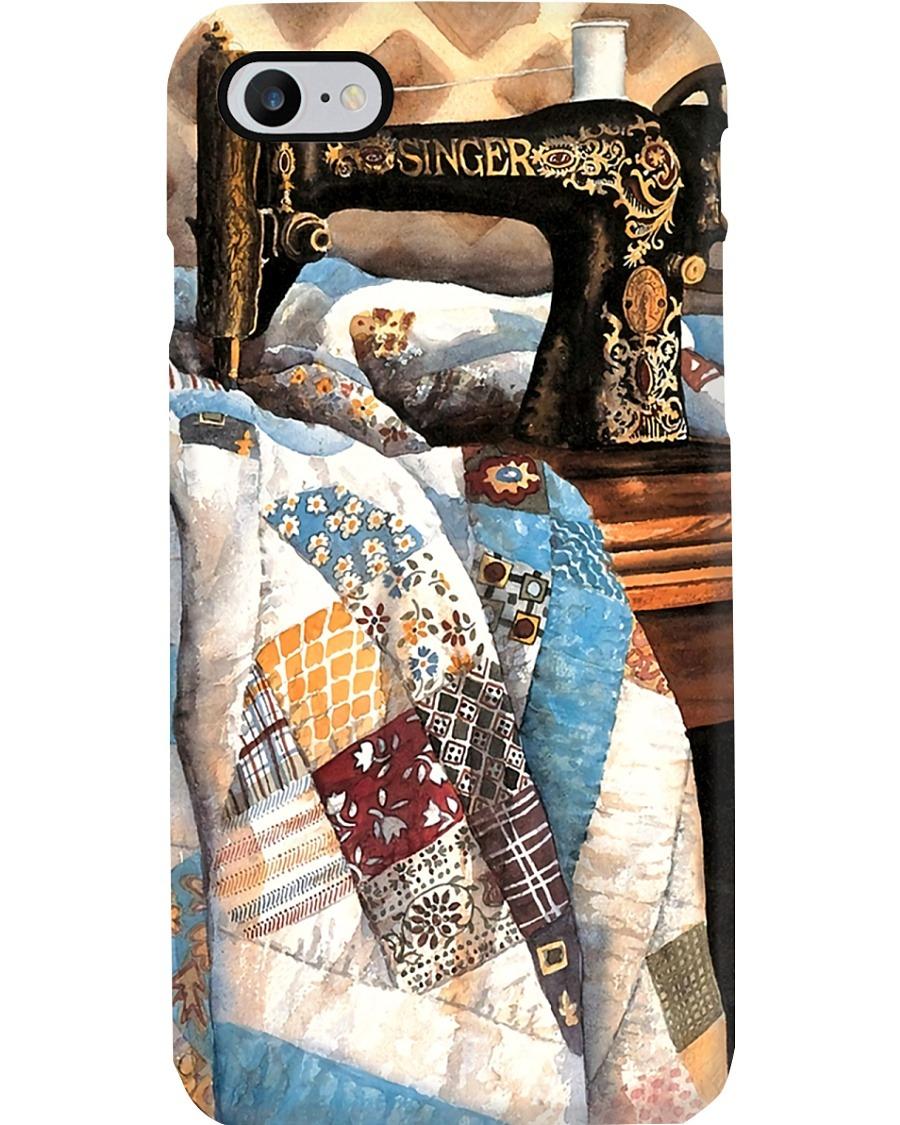 Patchwork Quilt Sewing Machine phone case 7
