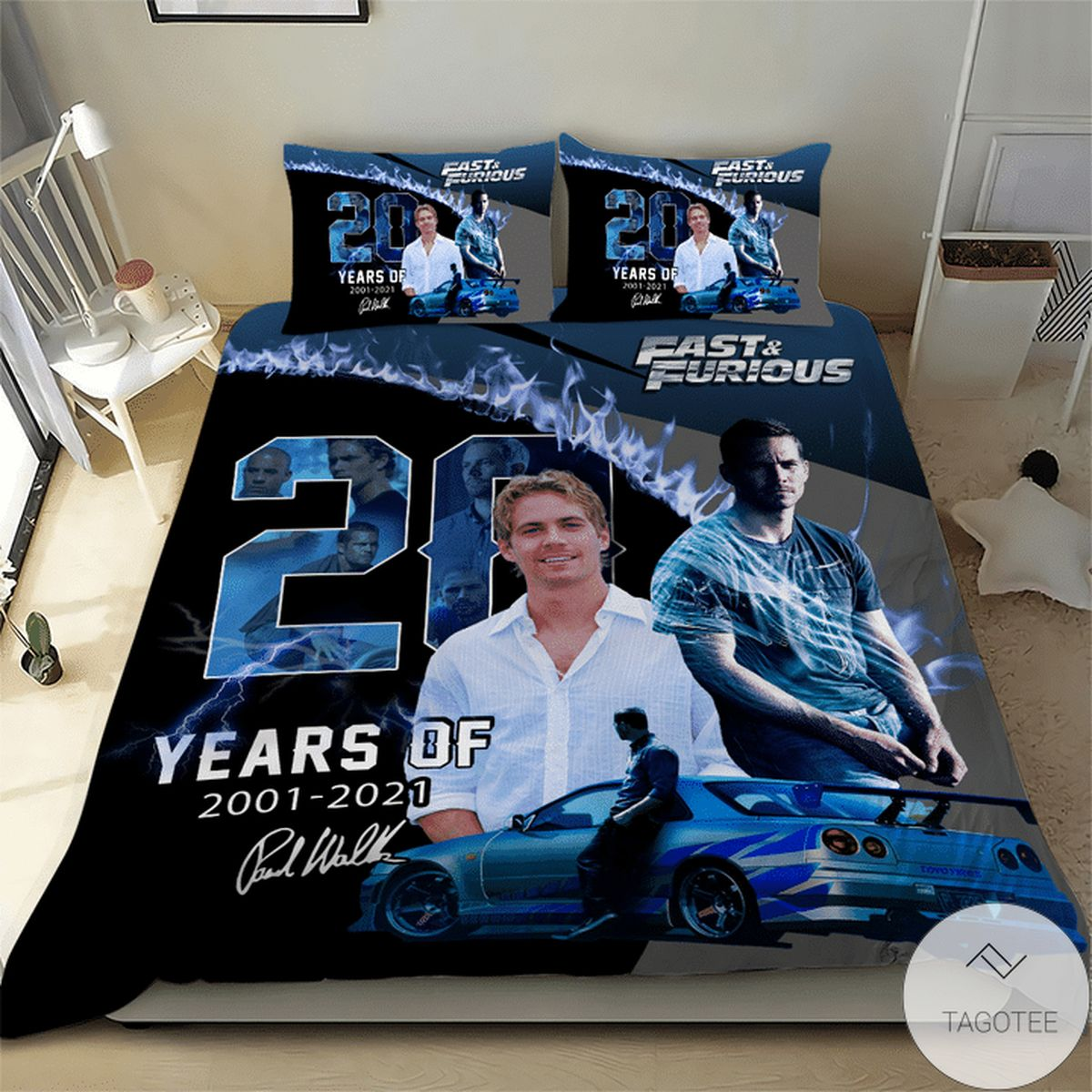 Paul Walker Fast And Furious Bedding Set