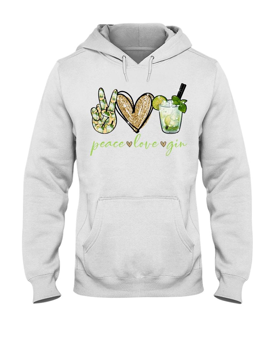 Peace love gin hoodie
