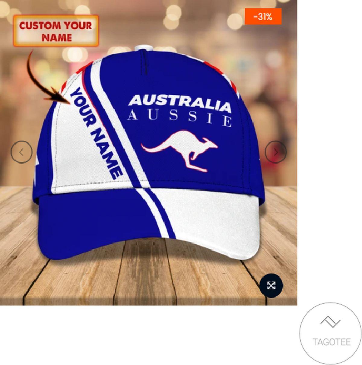 Best Shop Personalized Australia Aussie Kangaroo Cap
