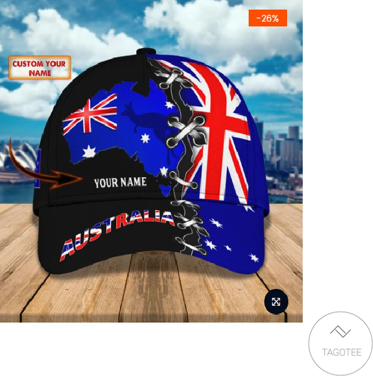 Awesome Personalized Australia Flag Kangaroo Cap