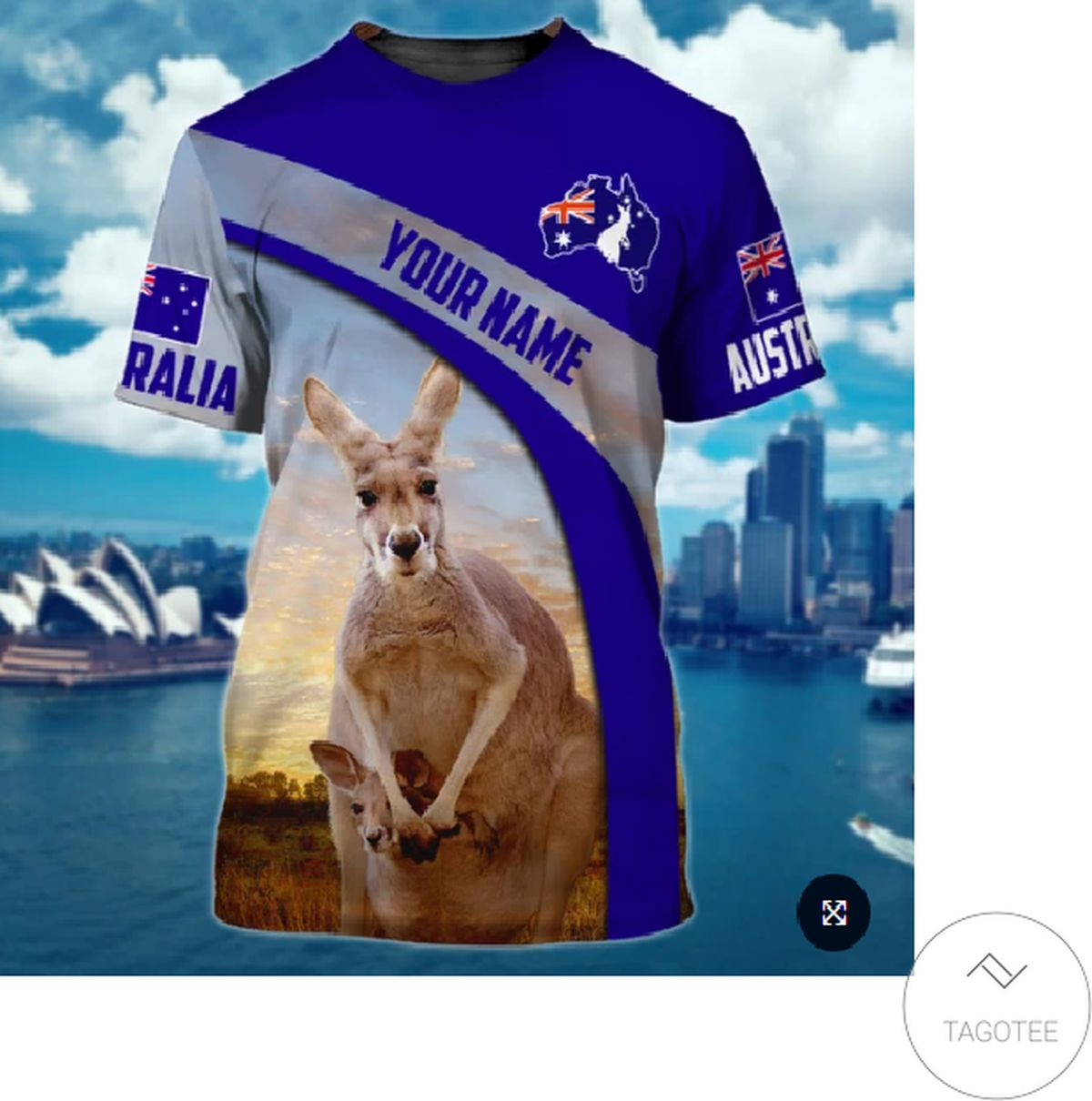 Personalized Australia Kangaroo 3d Shirt