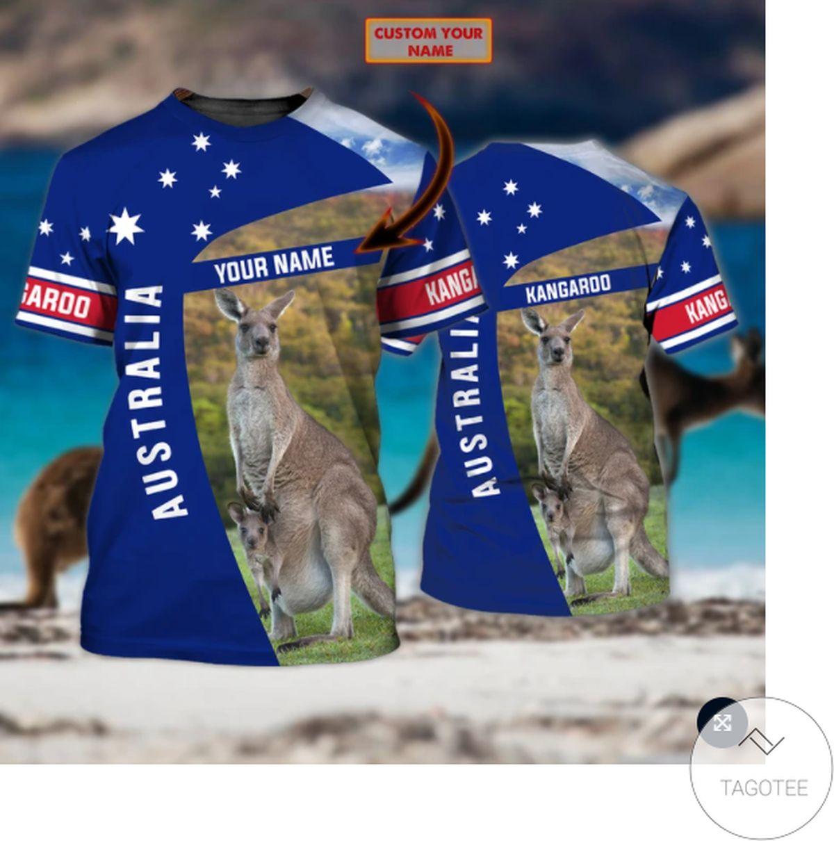 Personalized Australia Kangaroo Navy 3d Shirt