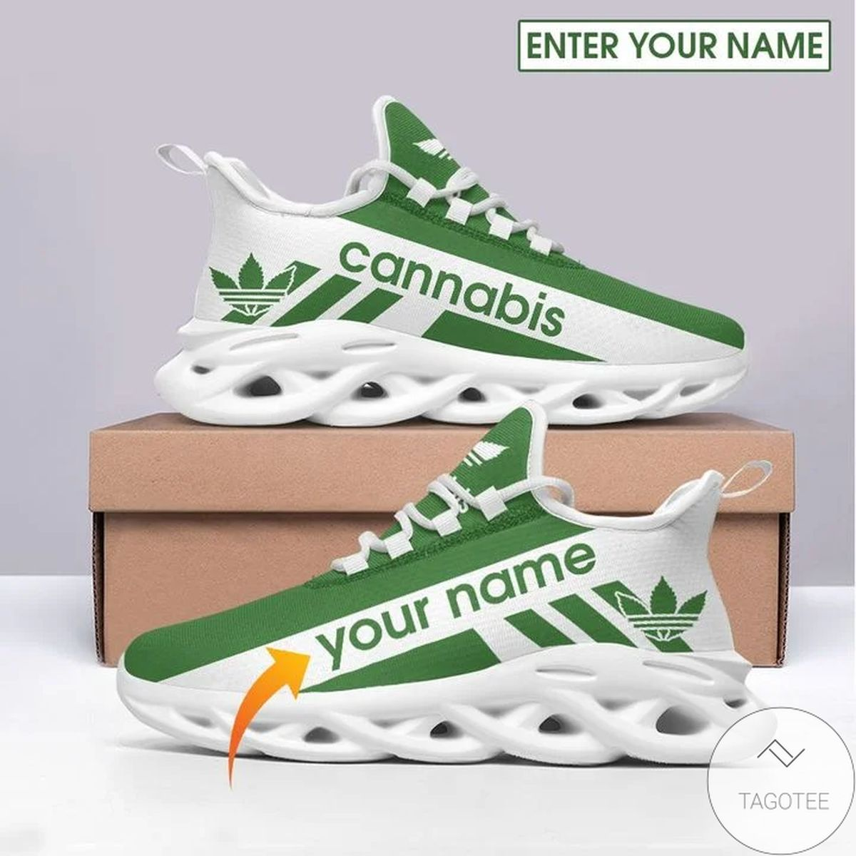 Personalized Cannabis Sneaker Max Soul Shoes