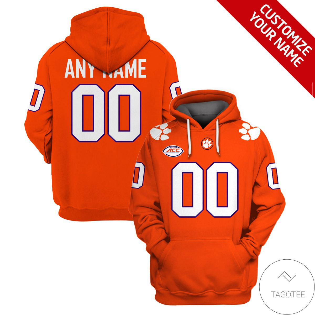 Personalized Clemson Tigers Football Hoodie