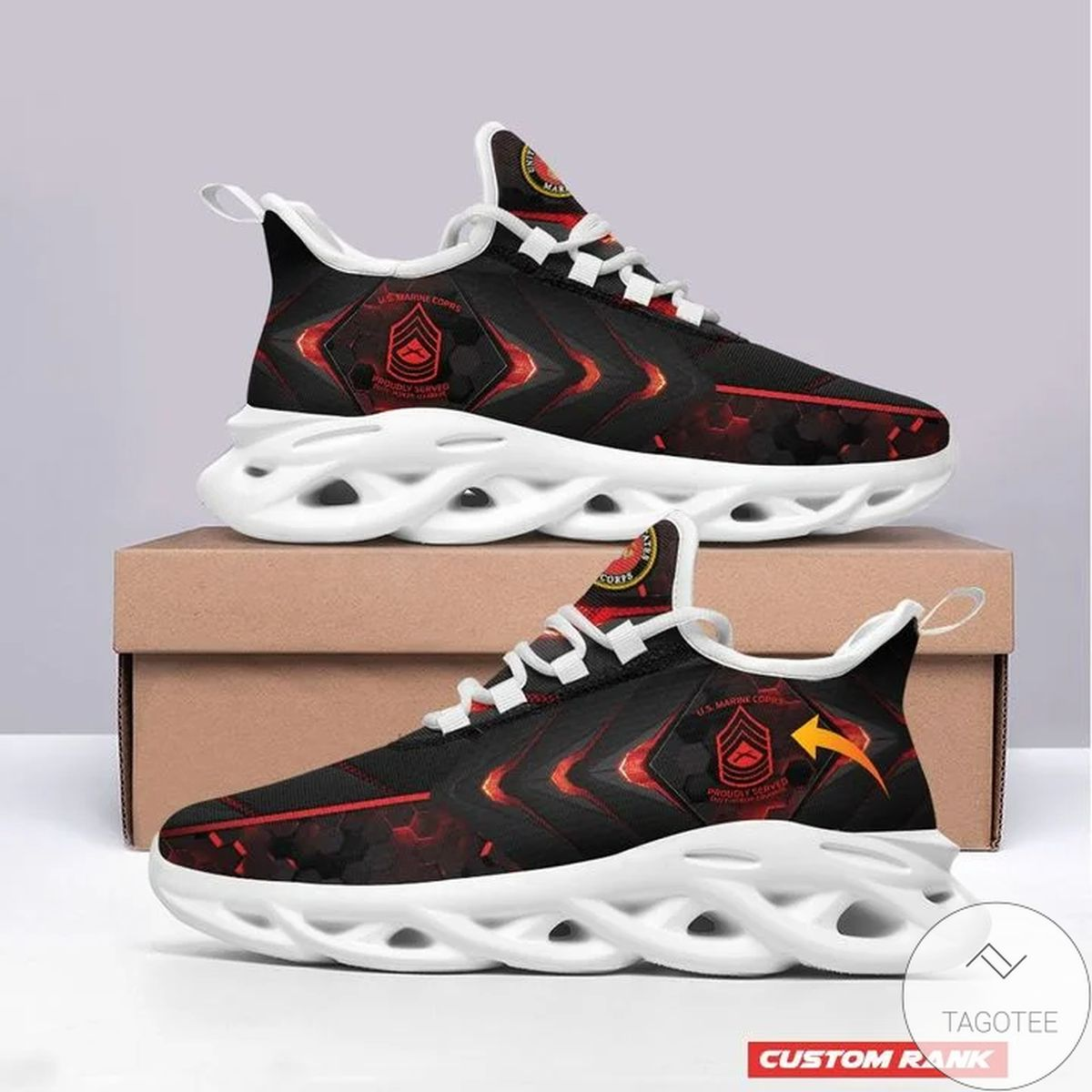 Personalized Customized Rank US Marine Sneaker Max Soul Shoes