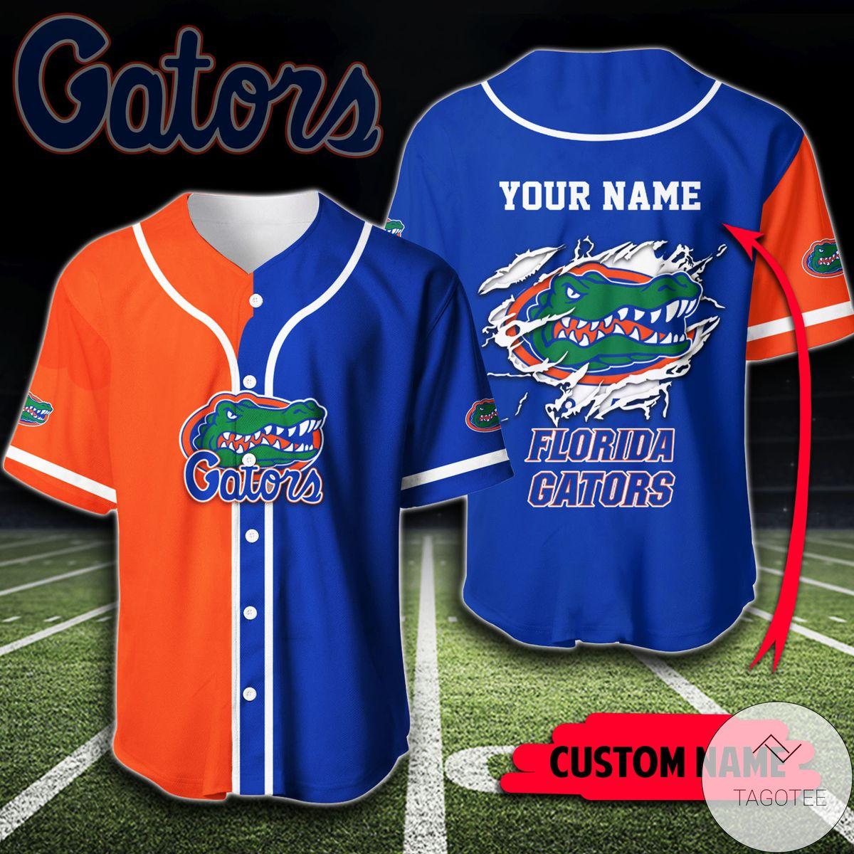 Personalized Florida Gators Shirt Baseball Jerseys