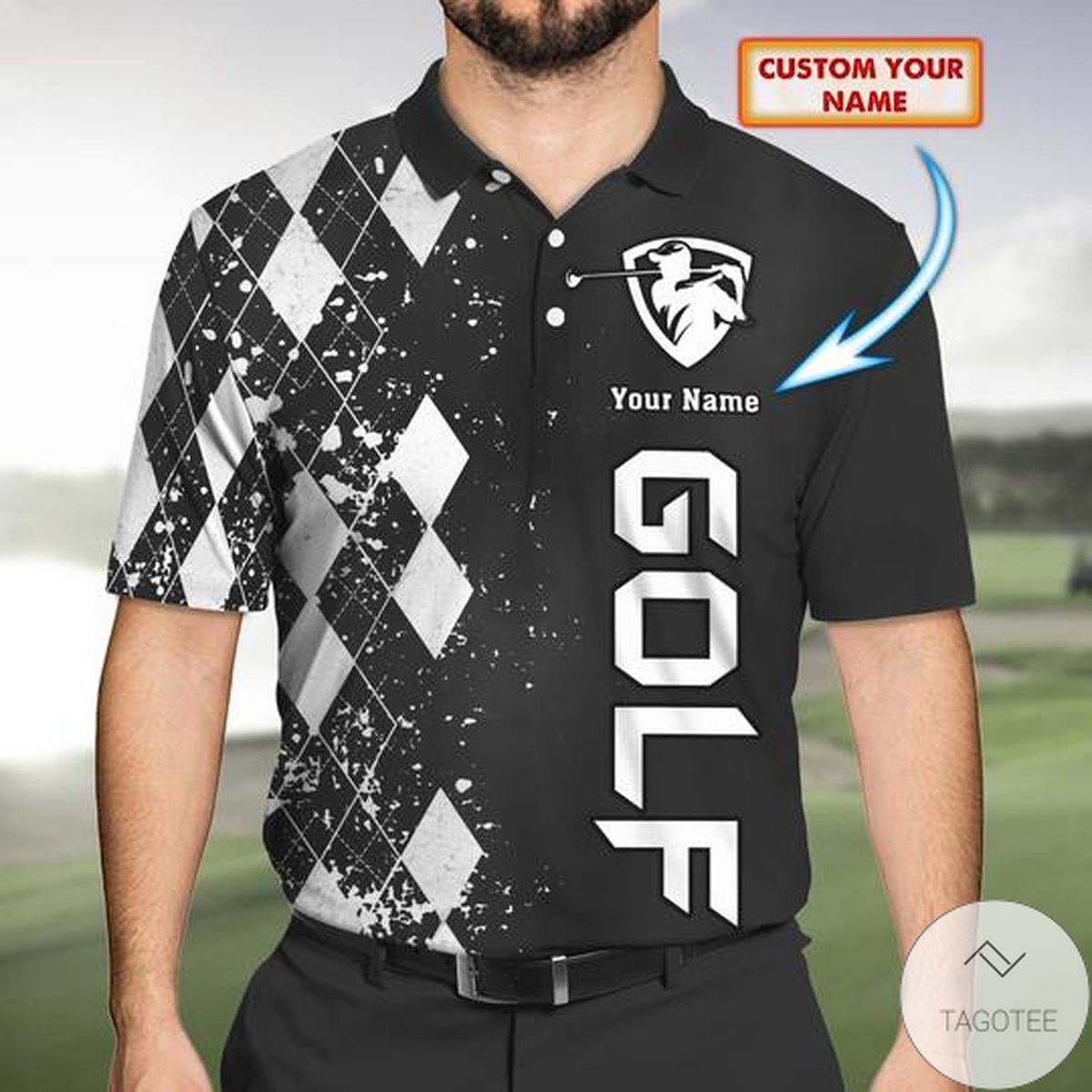 Personalized Golf 3d Polo Shirt