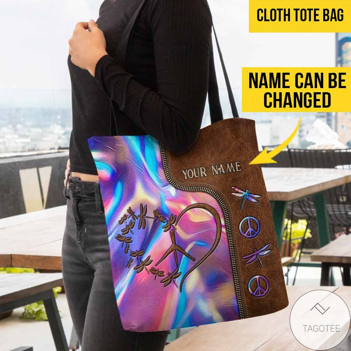 Unisex Personalized Hippie Soul Tote Bag