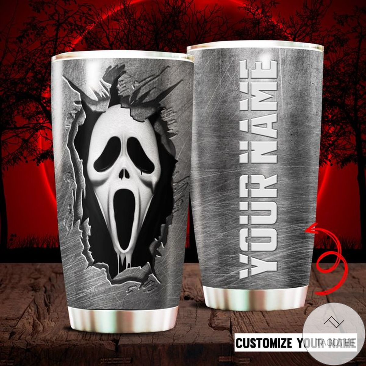 Personalized Horror Movie Character Ghostface Tumbler