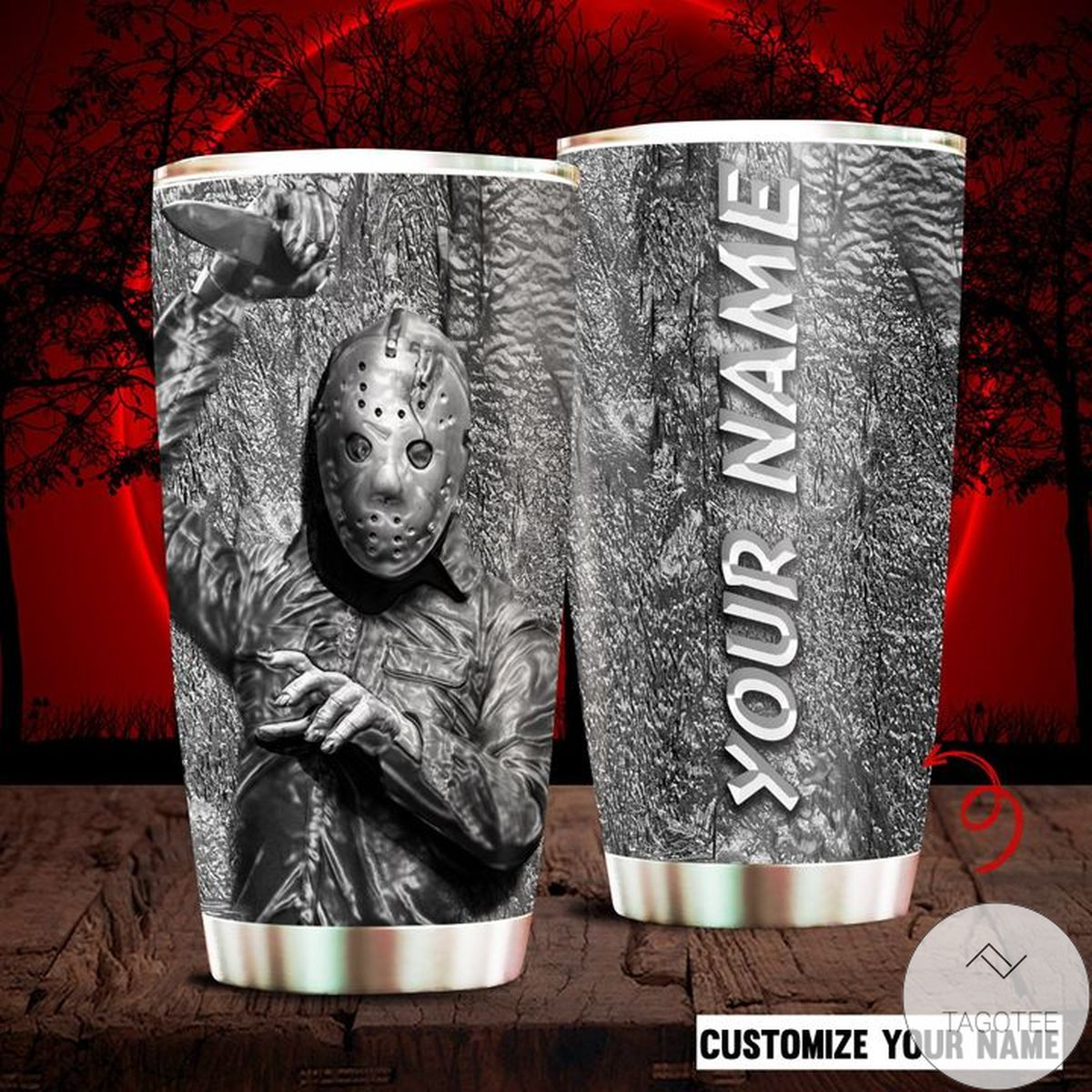 Personalized Horror Movie Character Michael Myers Friday 13th Tumbler