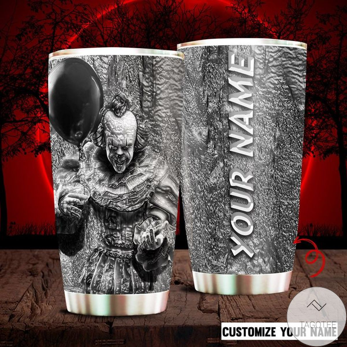 Personalized Horror Movie Character Pennywise It Tumbler