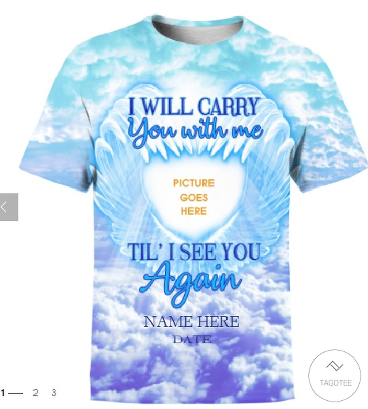 Personalized I Will Carry You With Me Til' I See You Again 3D T-shirt