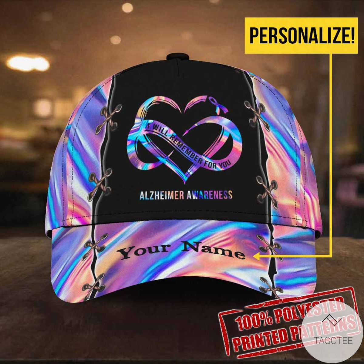 Personalized I Will Remember For You Alzheimer Awareness Cap
