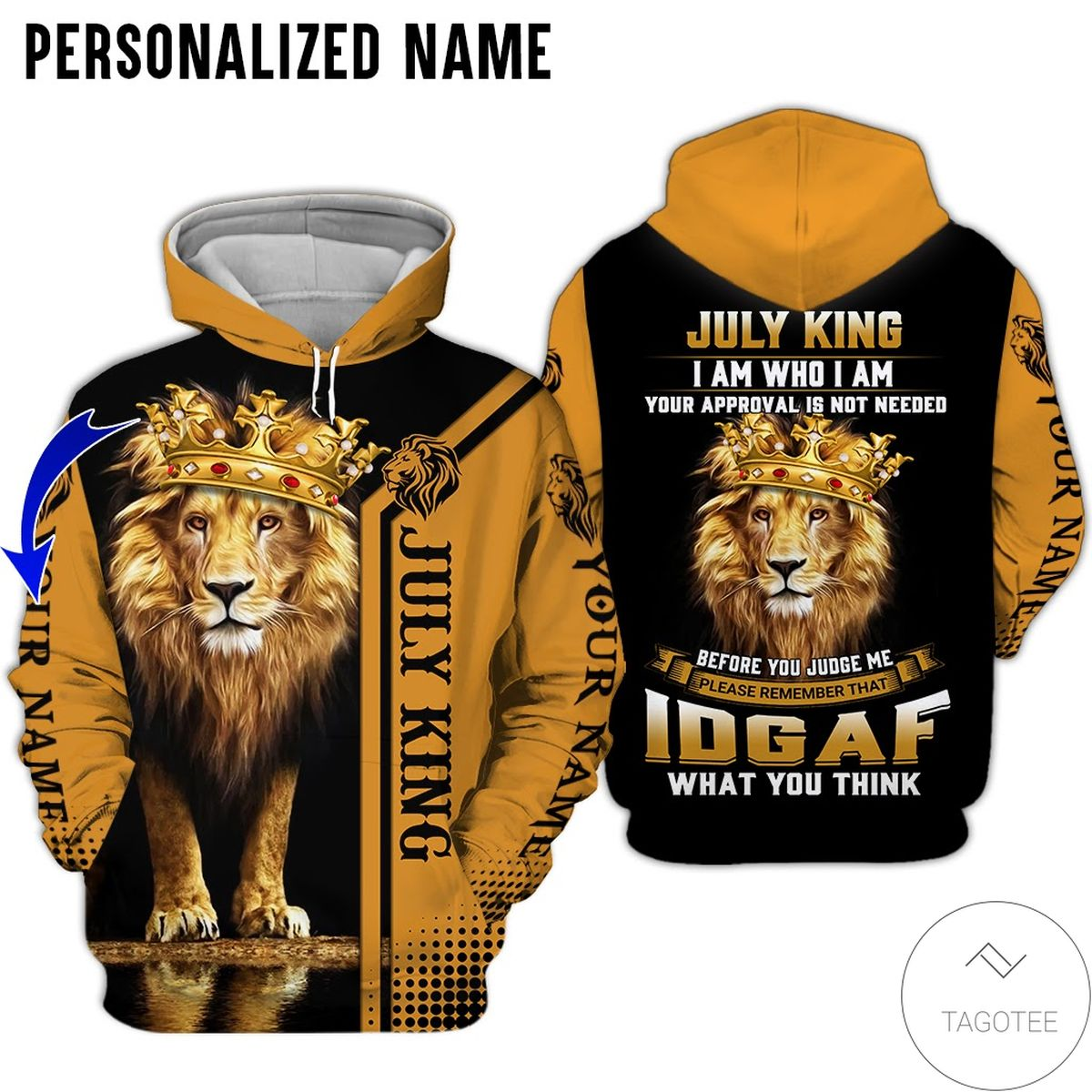 Personalized July Guy July King I Am Who I Am 3d Hoodie