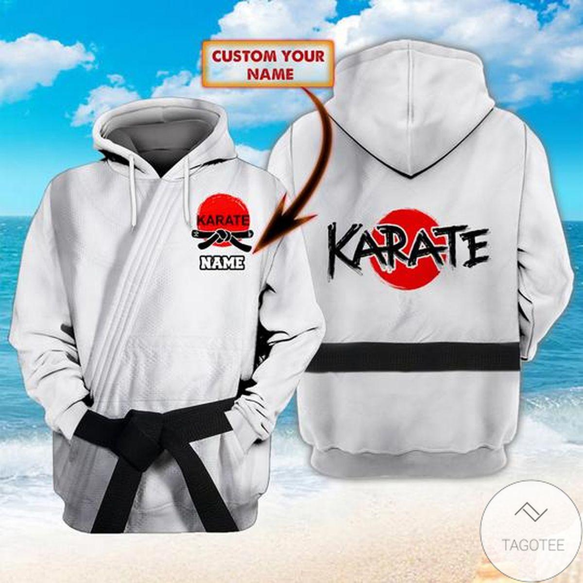 Personalized Karate Black Belt Hoodie