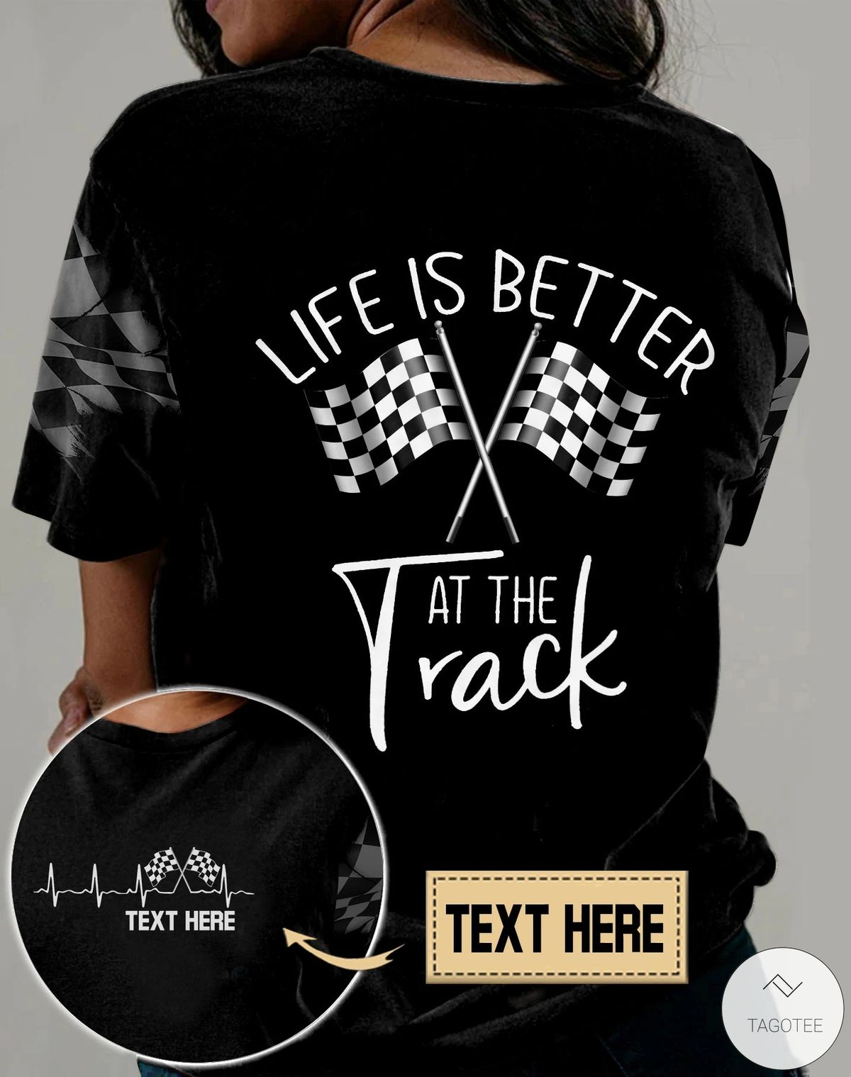 Personalized Life Is Better At The Track Racing 3D All Over Print T-shirt, Hoodiez