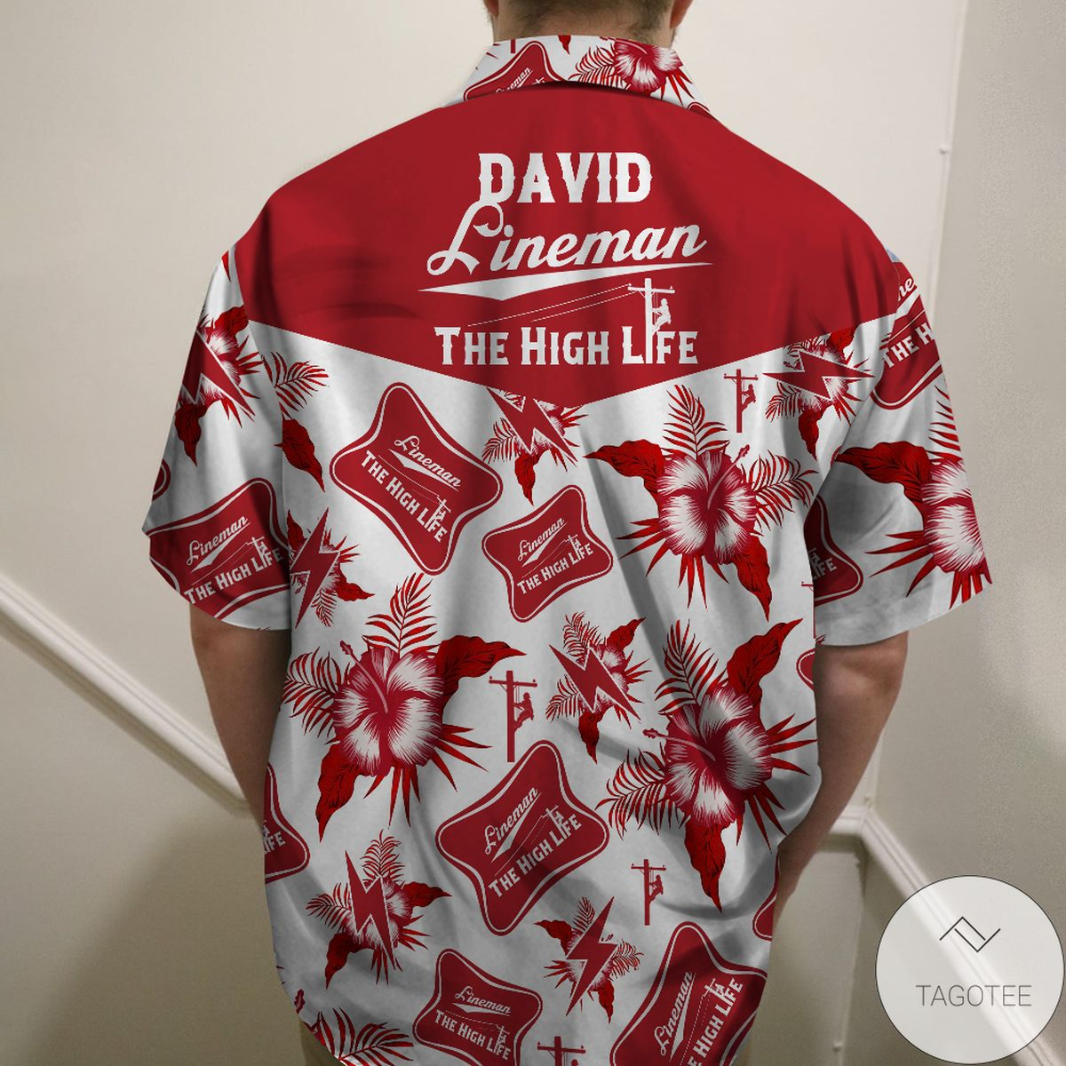 Excellent Personalized Lineman The High Life - Custom Hawaiian Shirt