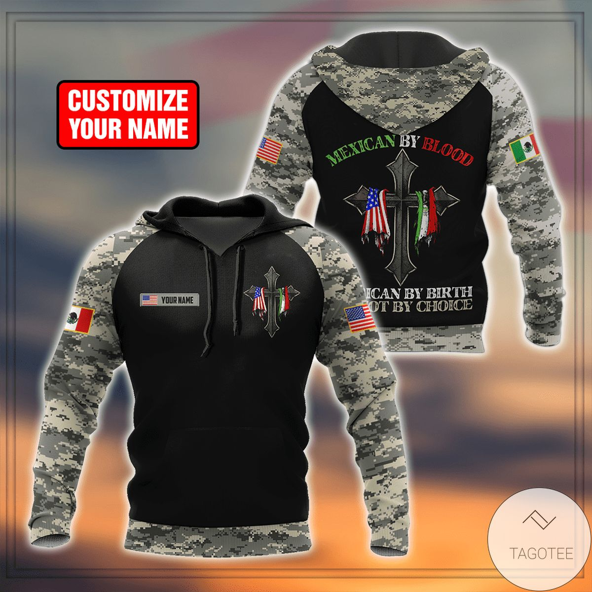 Free Ship Personalized Mexican By Birth American By Choice 3d Hoodie