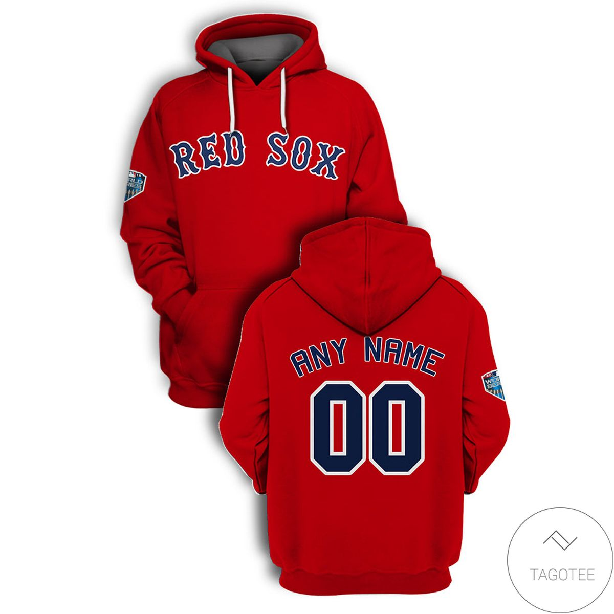 Personalized Name And Number Boston Red Sox All Over Print T-shirt