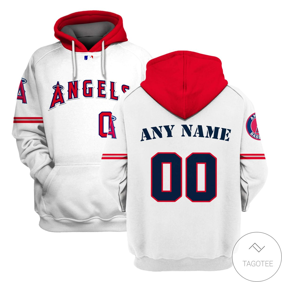 Personalized Name And Number Los Angeles Angels All Over Print T-shirt