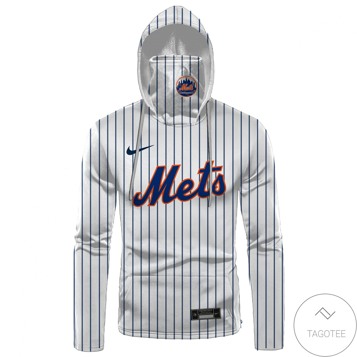 Personalized Name And Number New York Mets Gaiter Mask Hoodie