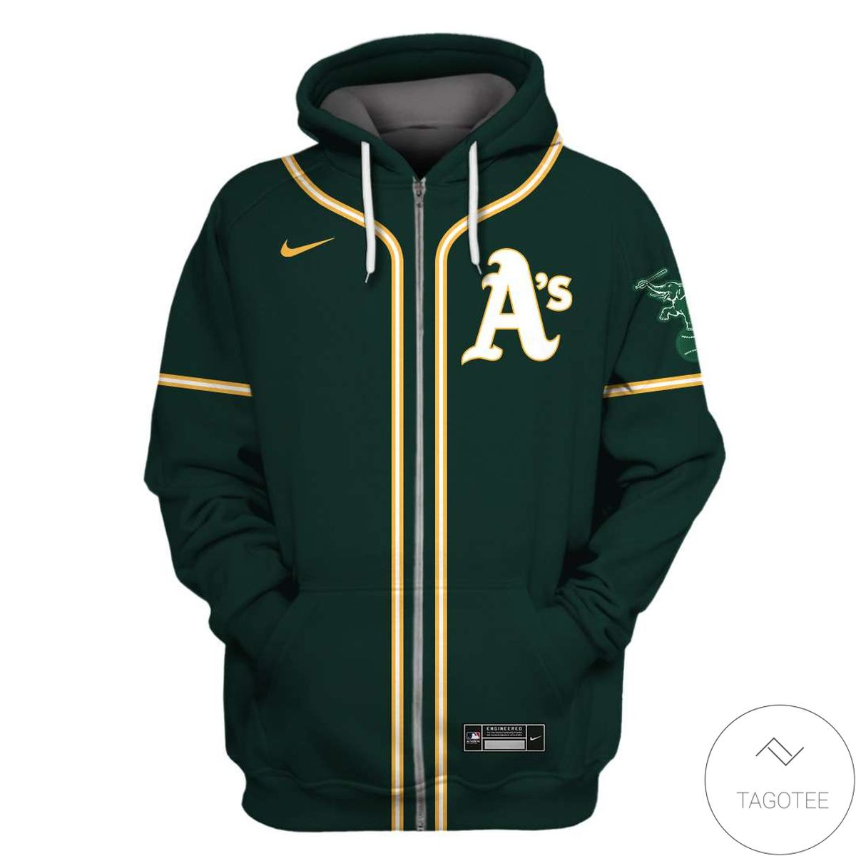 Personalized Name And Number Oakland Athletics All Over Print T-shirt