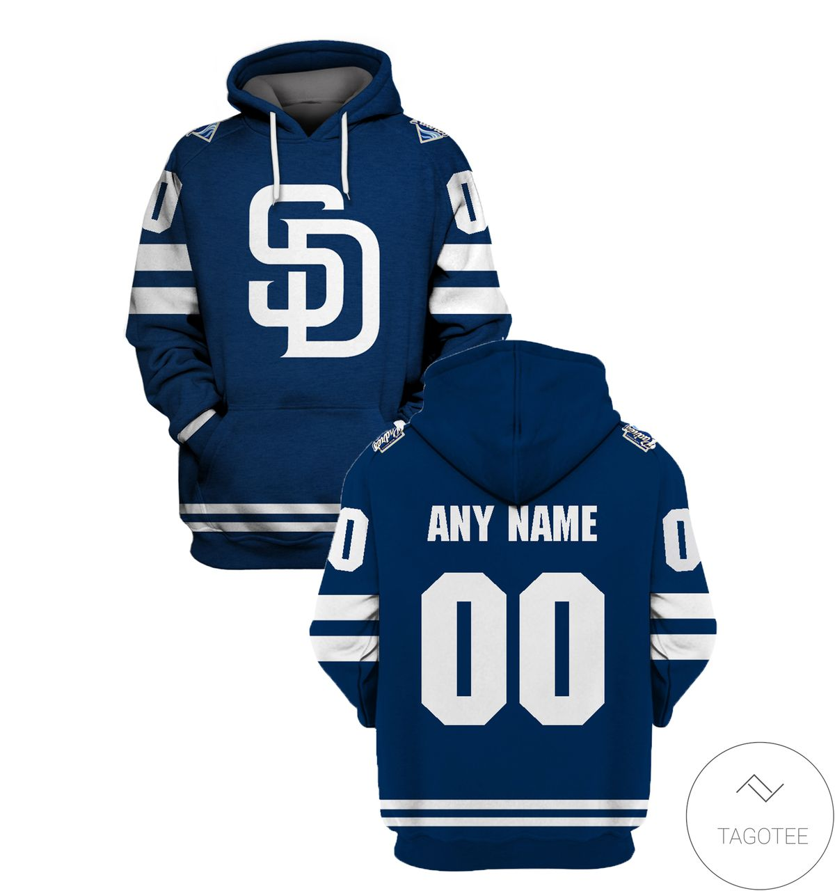Personalized Name And Number San Diego Navy All Over Print T-shirt