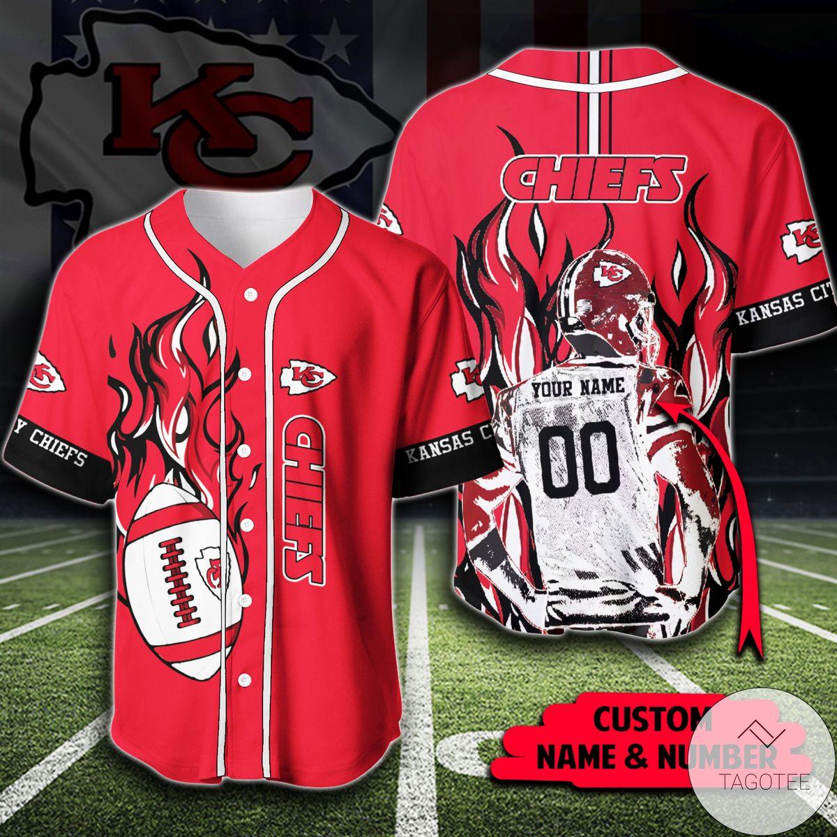 Free Ship Personalized Nfl Kansas City Chiefs Shirt Baseball Jerseys