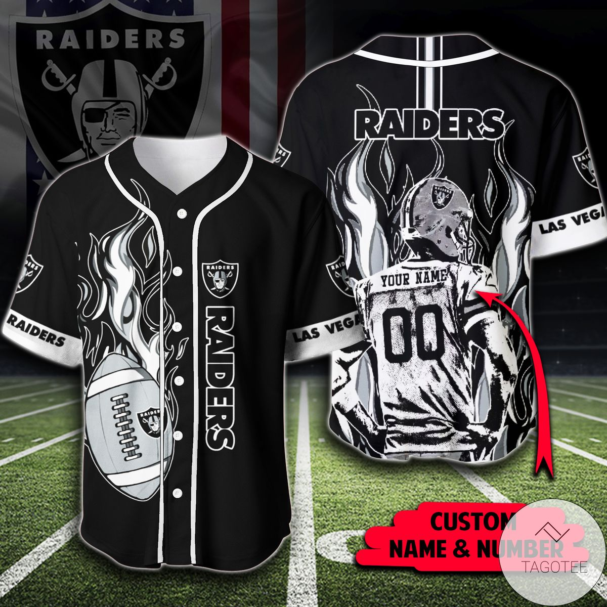 Personalized Nfl Las Vegas Raiders Shirt Baseball Jerseys